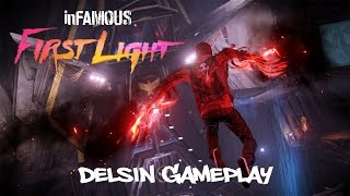 Infamous First Light - Delsin Rowe Gameplay - Battle Arena - PS4 [HD]