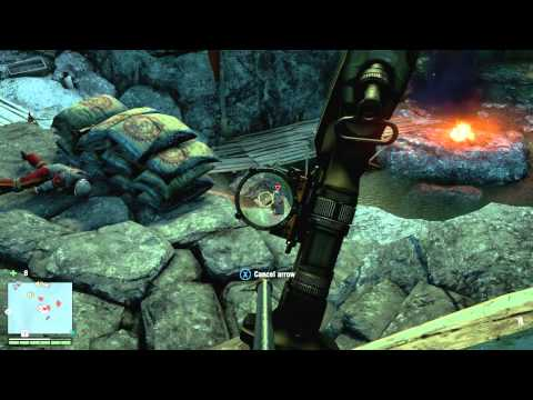 Far Cry 4 Outpost Takeover 100 Stealth Bow Youtube