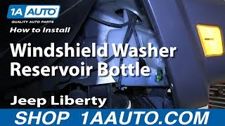 How To Install Replace Windshield Washer Reservoir Bottle 2002-07 Jeep Liberty