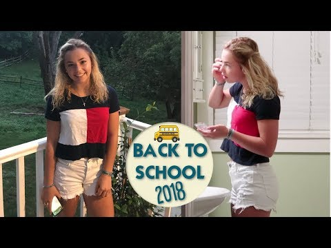IT'S THE FIRST DAY OF FRESHMAN YEAR: GRWM (back to school 2018) + KATIE GETS PRANKED!