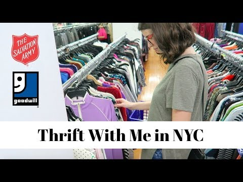 Thrift With Me In NYC | Goodwill & Salvation Army | Thrift Store Haul!