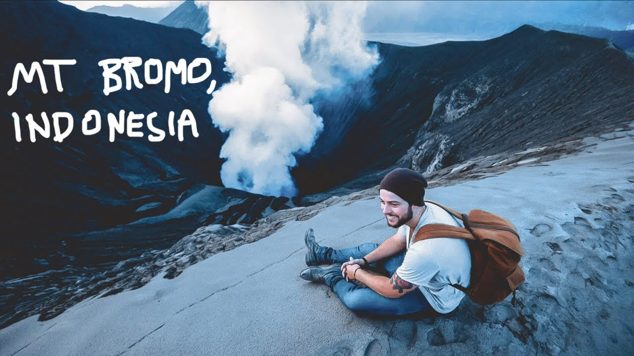 My Crazy Hike On A Volcano Mount Bromo Indonesia Youtube