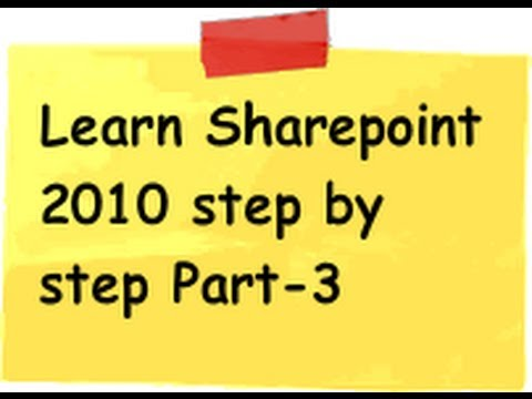 Sharepoint 2010 (Tutorial 2 Part 2) :- Create a simple web portal using sharepoint 2010 end to end