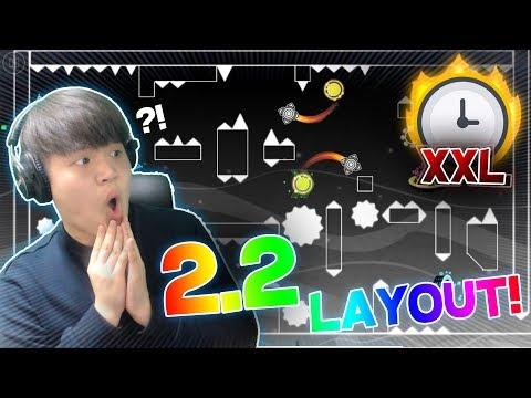 (XXL) 4 MINS LONG | A NEW CRAZY 2.2 LAYOUT: ENDLESS! | Geometry Dash [2.2] | Dorami