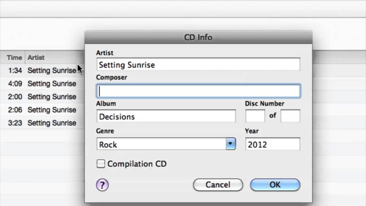 How Can I Put Music Track Information On My Burned Cd Cds Audio