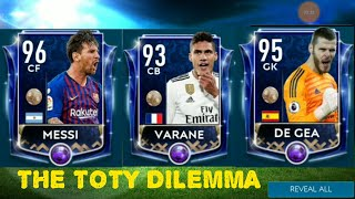 THE TOTY DILEMMA !!! FULL TEAM OF THE YEAR LIVE IN FIFA MOBILE 19 AS DEFENDERS ARE AVAILABLE NOW