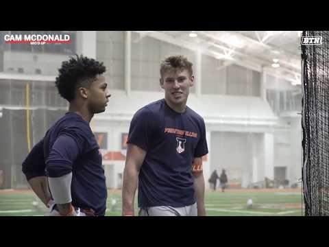 Mic'd Up: Cam McDonald | Illinois | B1G Baseball