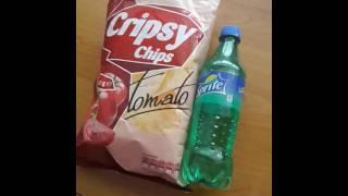 Обзор на еду #1-Чипсы Crypsy Chips with tomato и Sprite