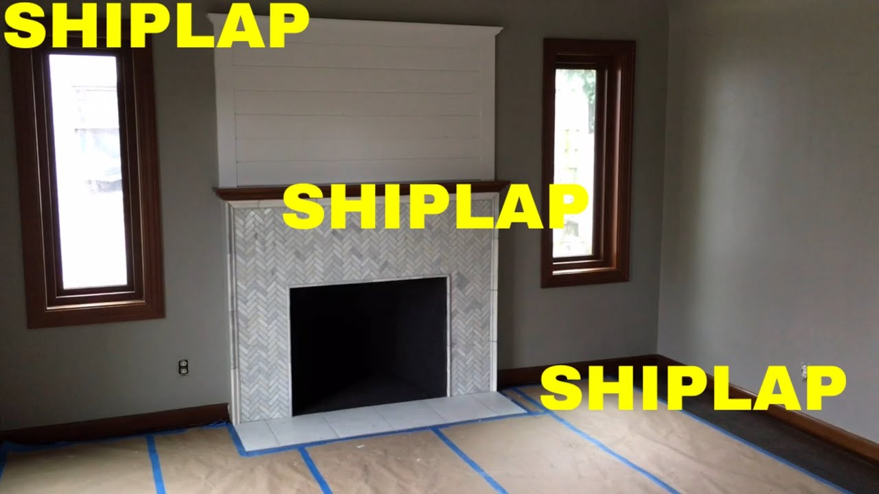 Ideal Shiplap on fireplace wall - YouTube LT01