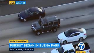 Police Chase Hummer California Kidnapping Pursuit