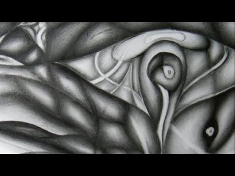 Abstract pencil drawing rising