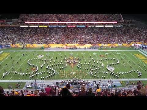 ASU Sun Devil Marching Band Halftime 9/23/2017