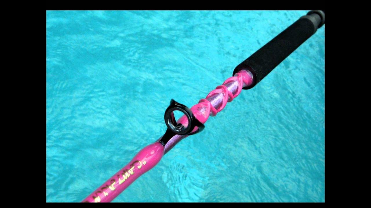 Captain jennifer 39 s amazing pink pearl fishing rod youtube for Pink fishing rod