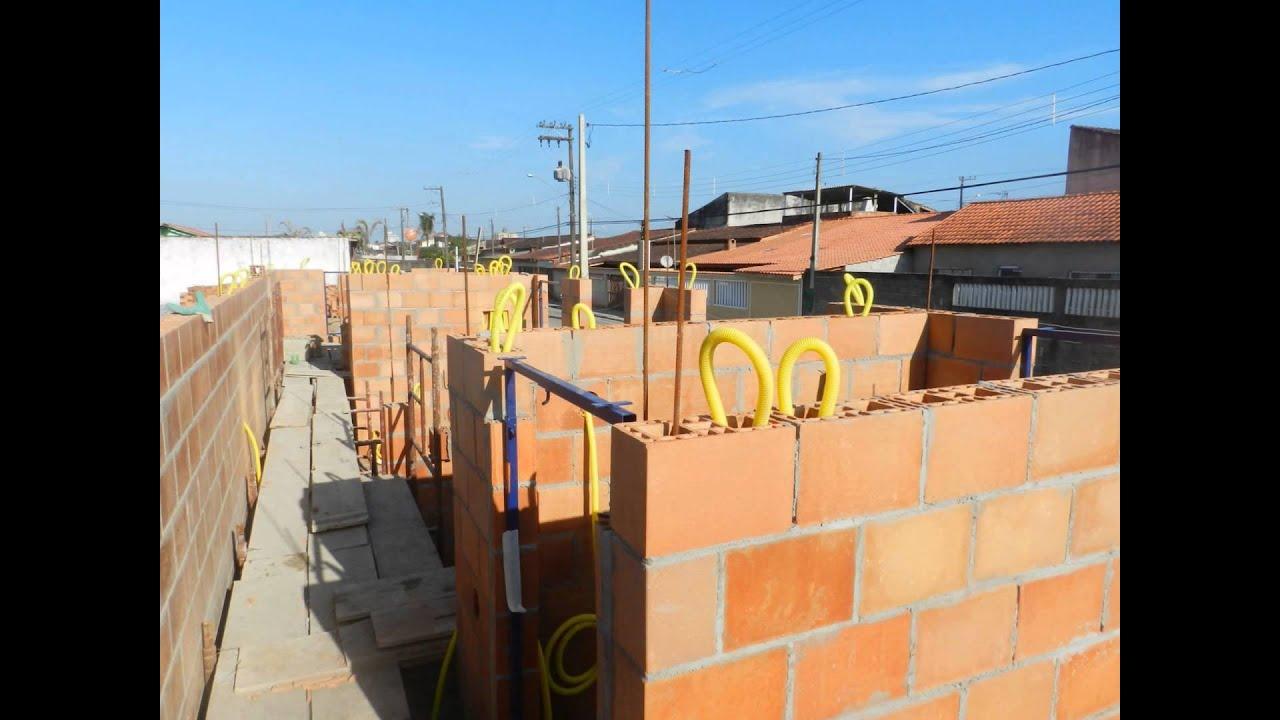 Instalação elétrica em bloco estrutural.(Conduíte e QDC)