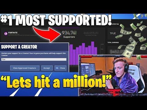 TFUE REVEALS HOW MANY PEOPLE USE HIS SUPPORT A CREATOR CODE! (SHOCKING) - Fortnite Moments