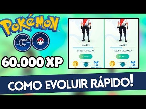 Como Evoluir Rápido No Pokemon GO! [+60K XP Em 30Min]