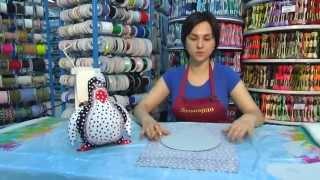 Шитье: Подушка-игрушка Пингвин в технике печворк