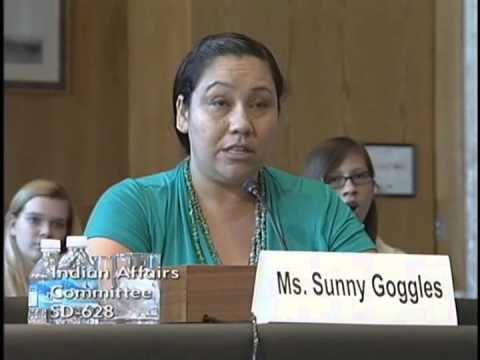Sunny Goggles Testimony Before the Senate Committee on Indian Affairs