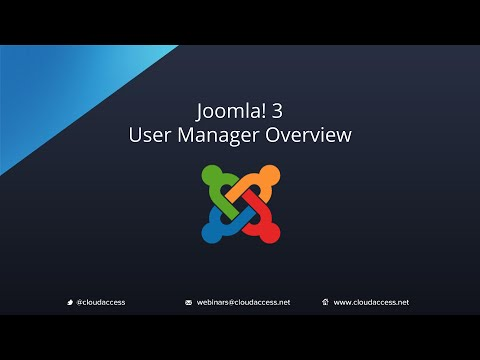 User Manager Overview (Joomla 3.0)
