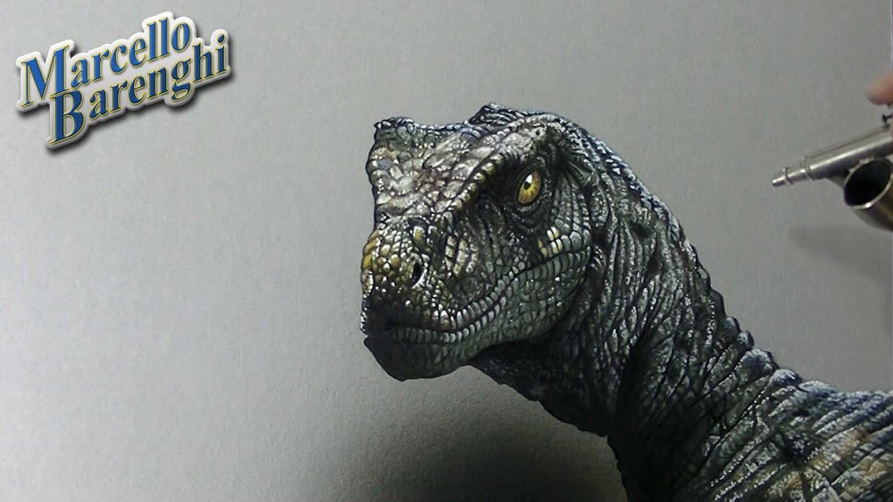 Velociraptor Drawing - 3D Art - YouTube