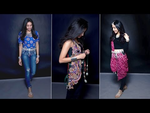 5 Navratri Looks With Jeans   Ethnic Fashion   Navratri 2017 Special   Glamrs