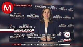 Mensaje de Margarita Zavala tras su renuncia a la candidatura