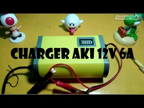 Review charger aki otomatis 12V 6A | Review charger liquid acid battery #1