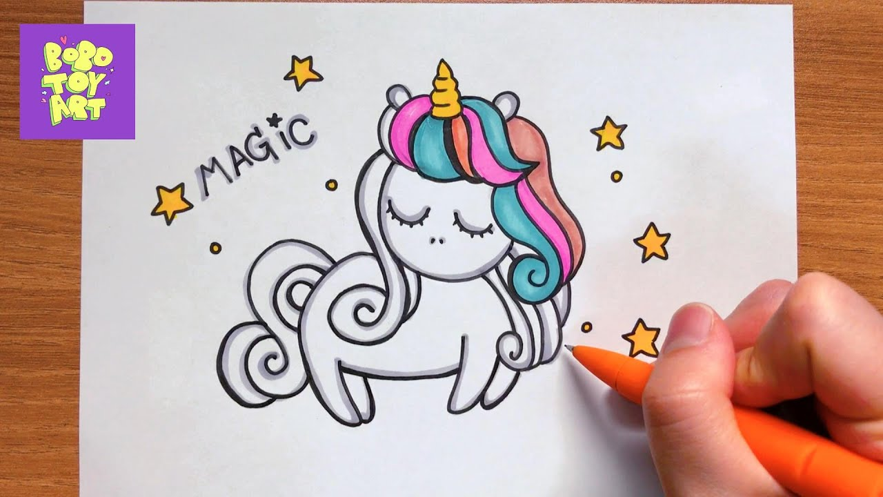 HOW TO DRAW  UNICORN - SUPER  EASY TUTORIAL