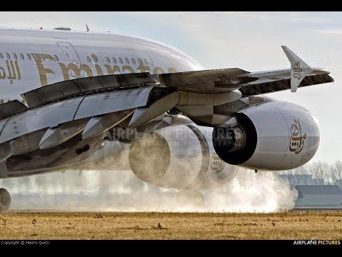 ✈ ✈(HD) Landing at Dubai (OMDB) A380-800 Emirates Airlines ✈ ✈