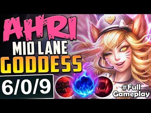 AHRI MID LANE GODDESS | THIS IS ACTUALLY STRONG | New Runes Ahri MID Build Season 8 PBE Gameplay