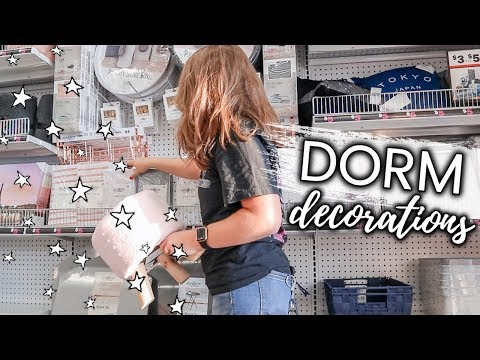 college dorm room DECOR SHOPPING at 5 Below vlog