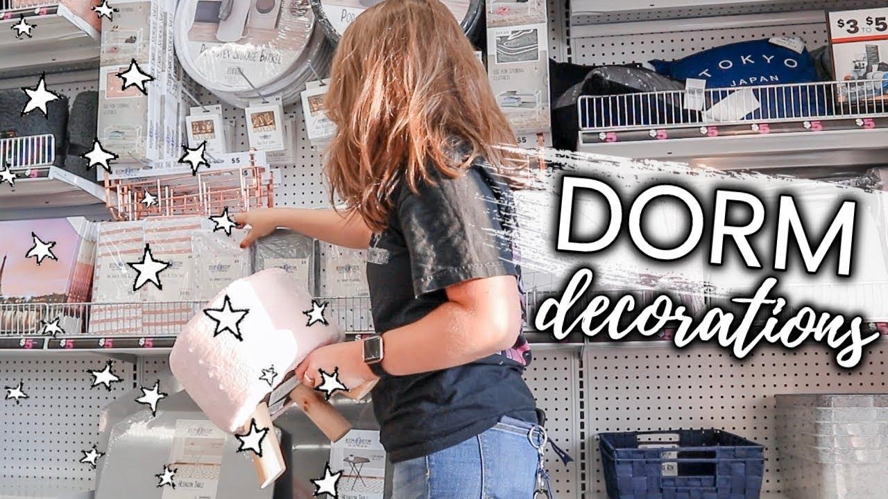 Download college dorm room DECOR SHOPPING at 5 Below vlog