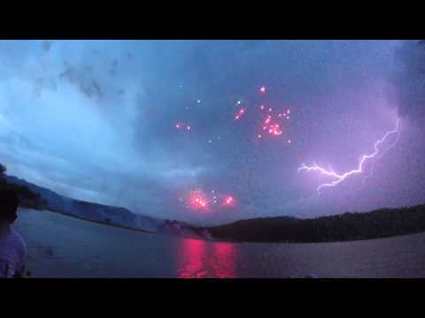 Slow Motion Lightning Bolts Ruidoso New Mexico