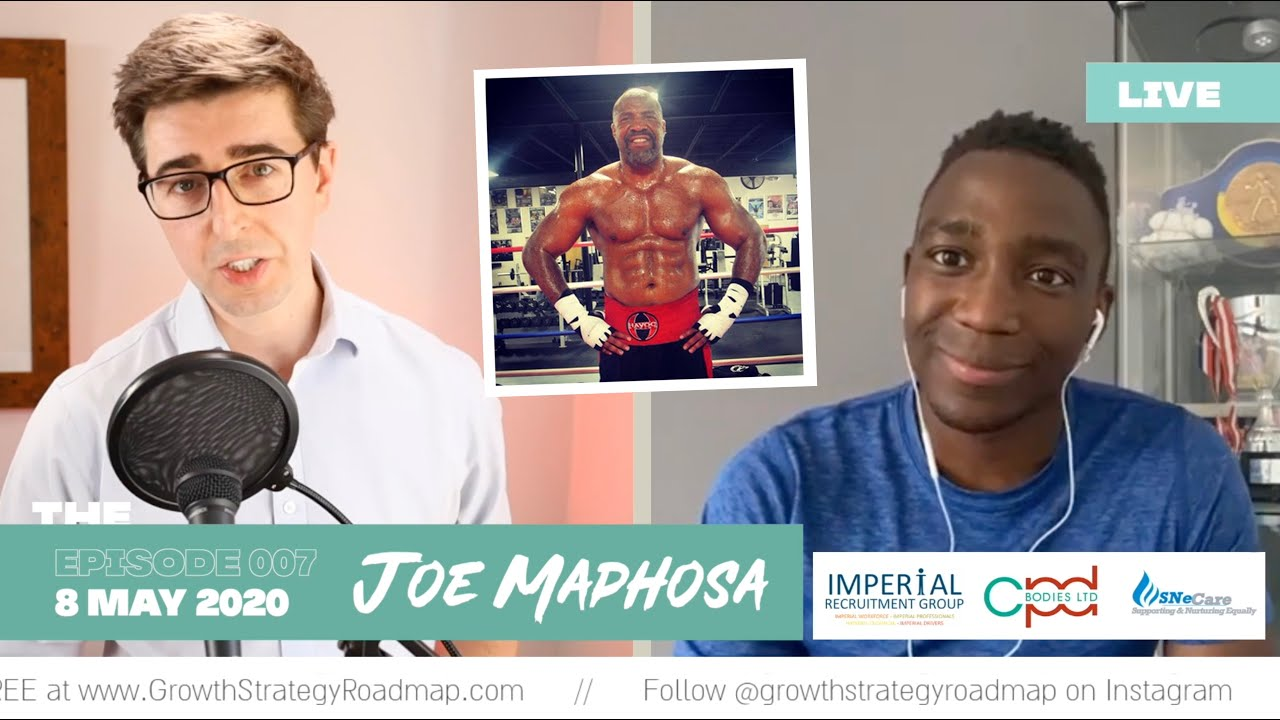 Study the game! Professional Boxer, Joe Maphosa