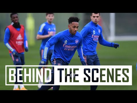 Aubameyang looking sharp 和 Martinelli is back! | Behind the scenes at 兵工厂 training centre