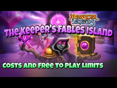 Monster Legends - The Keeper's Fables Progressive Island - Free to Play Limits, How to Unlock All