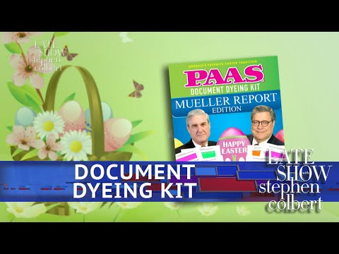 See Late Show Skit - Color Code Your Own Mueller Report!