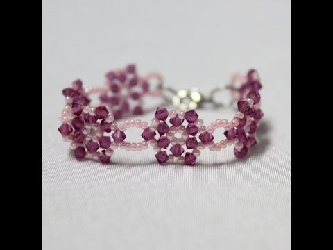 How to make beaded kid bracelet for girl! - YouTube