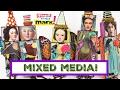 How to: Mixed Media Wood Block Dolls