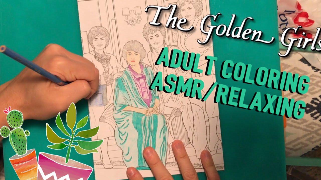 Golden Girls Adult Coloring Book Asmr Relaxing Youtube