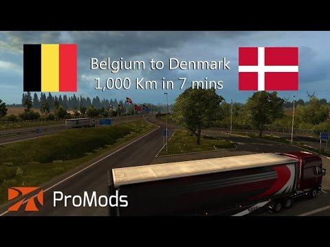 Euro Truck Simulator 2 - Timelapse - Belgium to Denmark - Timelapse