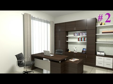 Interior Design Make Office Room Using Sketchup And Vray 3 4 Part 1 Youtube