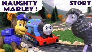 paw patrol and minions with thomas and friends play doh toys episode funny family fun naughty marley