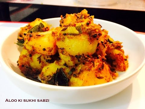 How to make Aloo ki sukhi (Dry potato) sabzi-Aloo Masala Fry-Sukhe Aloo Recipe