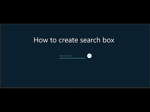 How To Create Animated Search Bar |create Animated Search Box |HTML And CSS |New Generation Tutorial