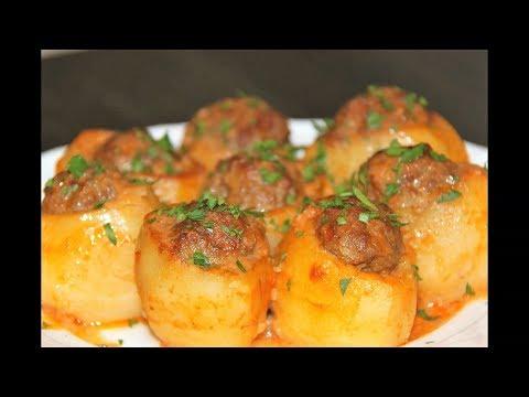 Картошка с мясом. Фаршированный картофель.Что приготовить на ужин