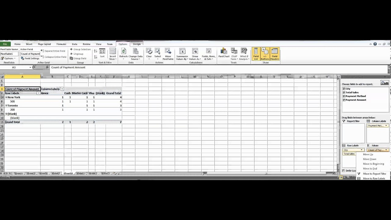 Excel how to create cross tab table youtube for Excel table design