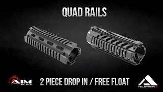 AIM Sports Inc. Quad Rails - Free Float & 2 Piece Drop In