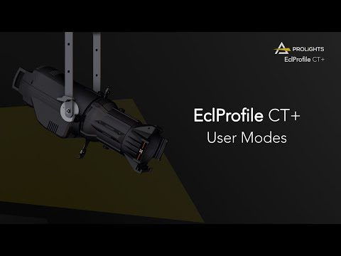 PROLIGHTS Ecl ProfileCT+: User Modes