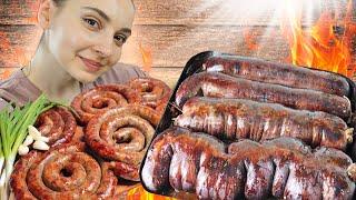 Готовлю КРОВЯНКУ и картофельную колбасу в ПЕЧИ, в селе